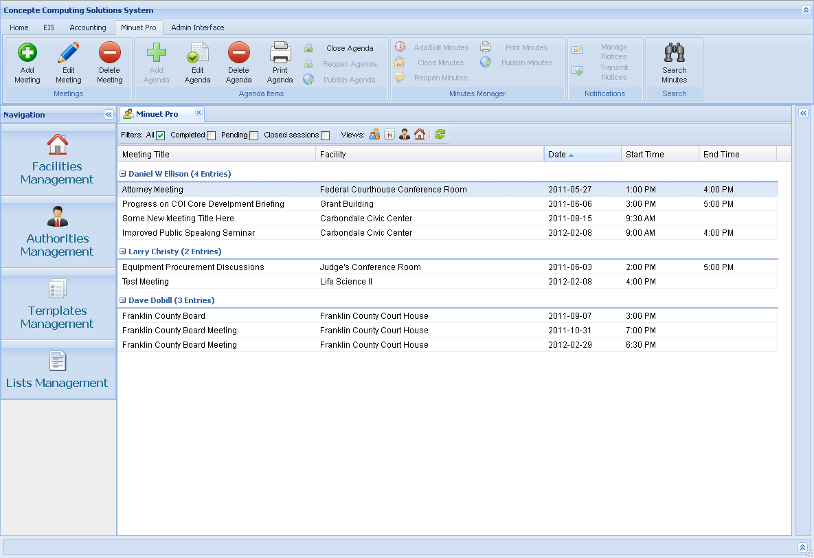 Minuet - Minutes Management System